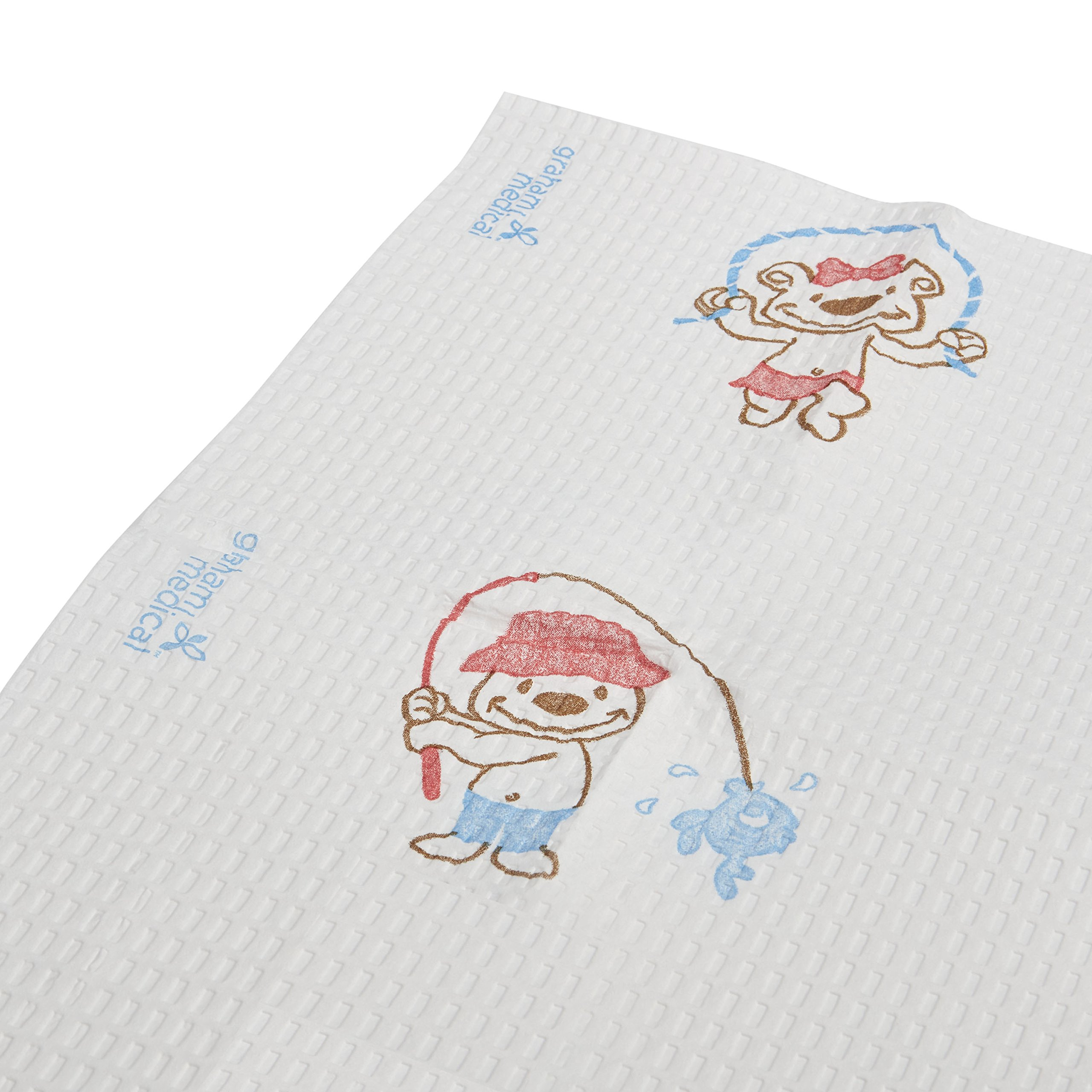 Graham Medical 70196N Towel, TTP, 13.5''w x 18''l, Activity Bears (Pack of 500)