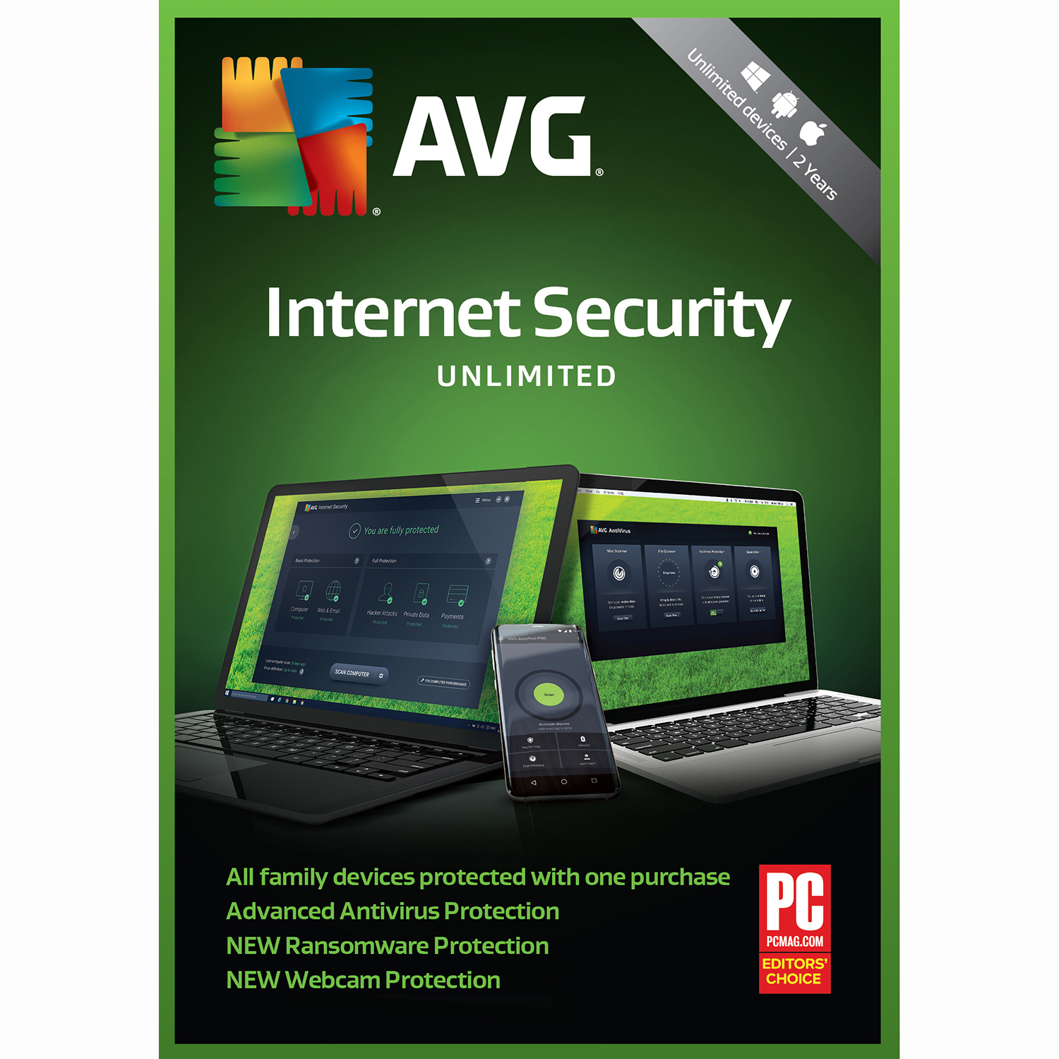 AVG Internet Security 2019Unlimited 2 Years [Download] by AVG Technologies