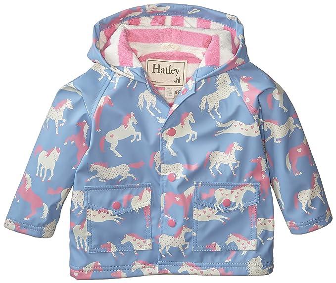 33e9ca621 Amazon.com  Hatley Baby Baby Girls  Raincoat Hearts and Horses