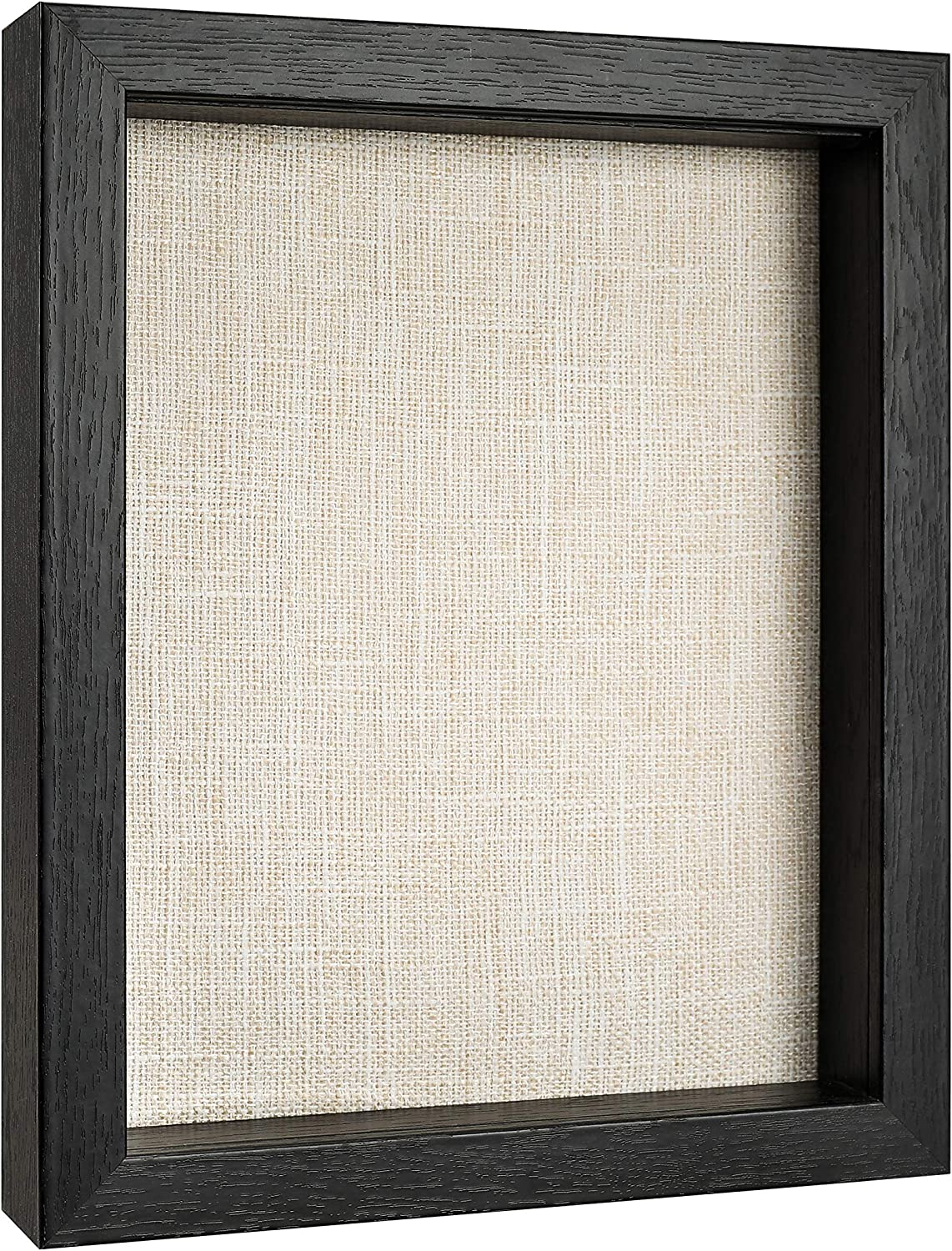 8x10 Shadow Box Display Case for Memorabilia, Pins, Awards, Medals, Tickets and Photos - Wood Shadow Box Frame (1, Black)
