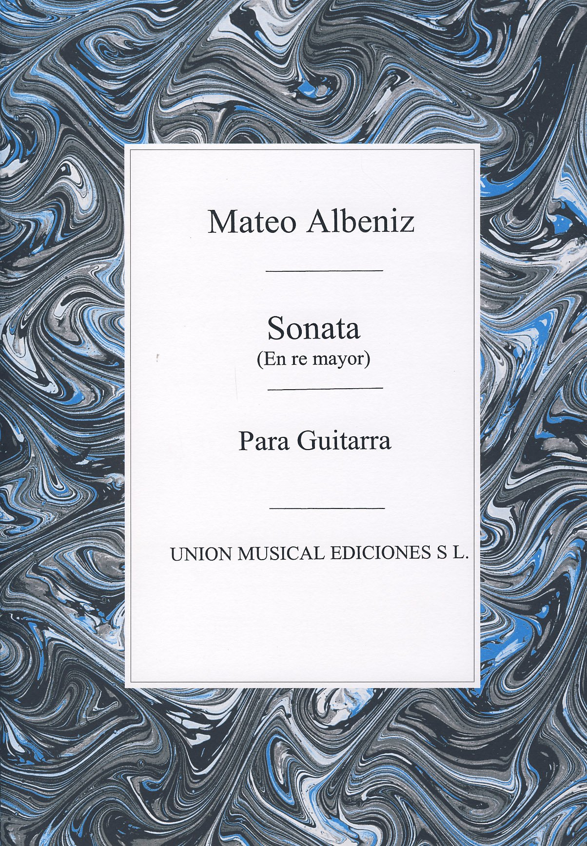ALBENIZ Mateo - Sonata en Re Mayor para Guitarra Tarrago: Amazon ...
