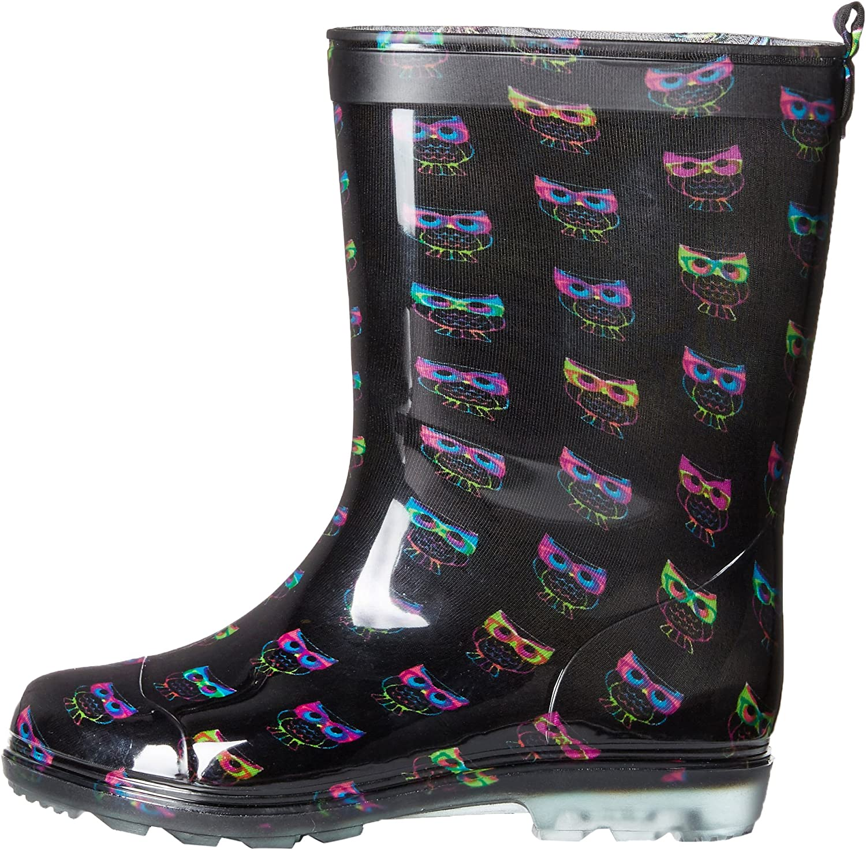 MINIKATA Little Kids Winter Warm Boots Kids Little Girl Warm Cartoon Cat Snow Boots Casual Short Boots