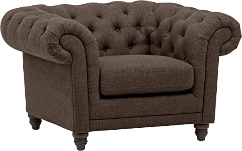 Amazon Brand Stone Beam Bradbury Chesterfield Oversized Tufted Accent Arm Chair
