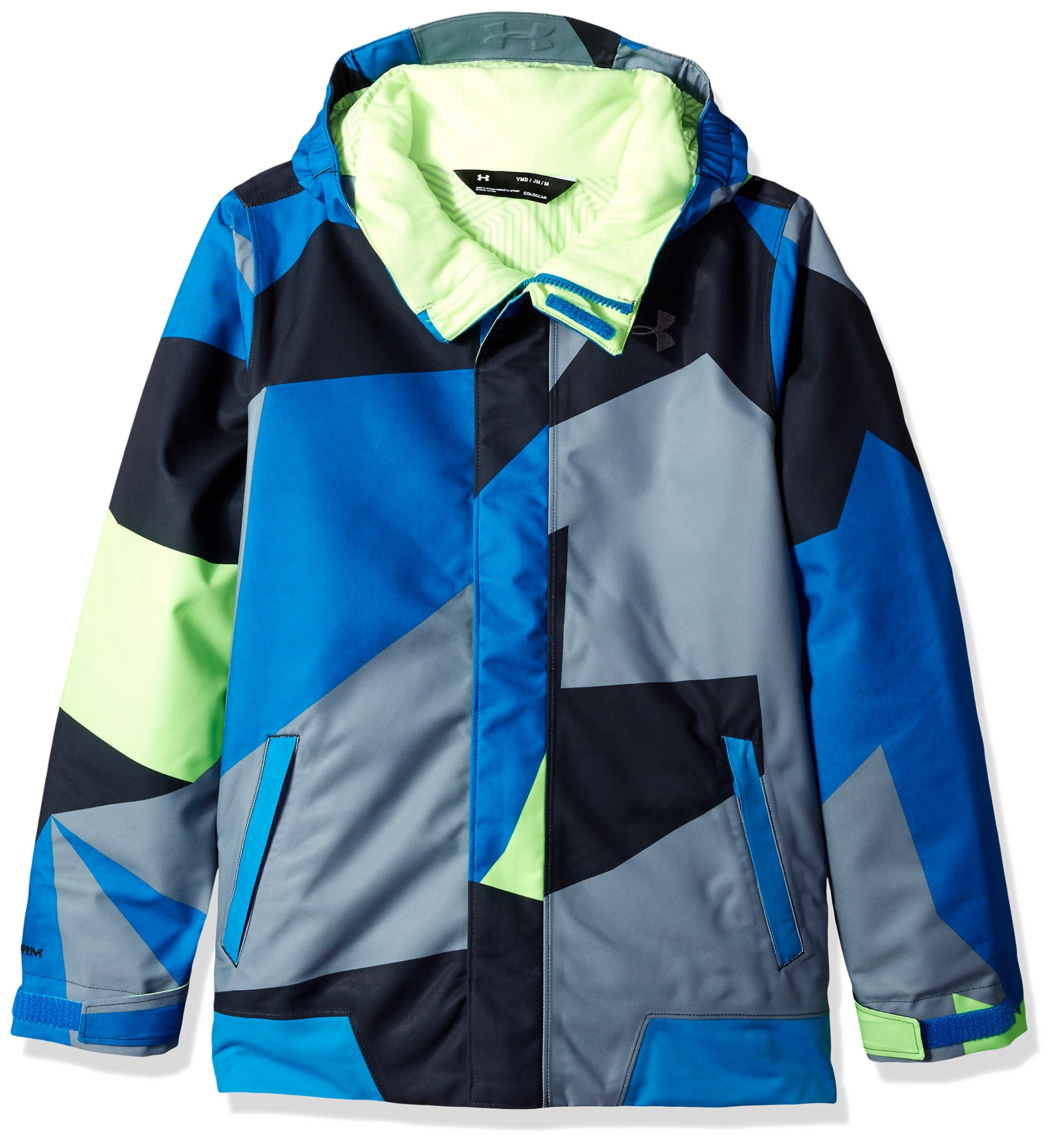 Under Armour Boys' Storm Powerline Insulated Jacket, Quirky Lime/Quirky Lime, Youth Medium by Under Armour