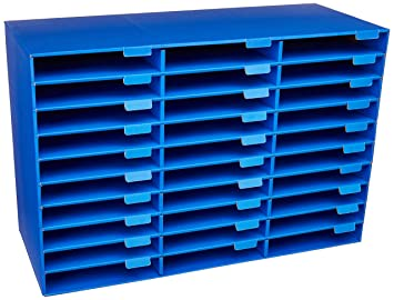Classroom Keepers 30 Slot Mailbox, Blue (001318)