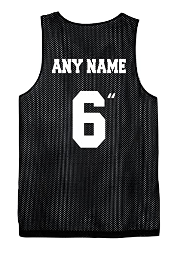 50e794df5 Youth Basketball Reversible Jersey Custom Screen Printed on All 4 Sides  (Black White