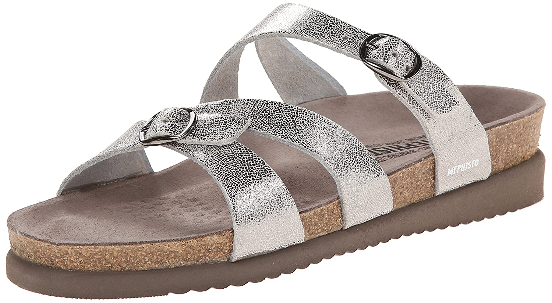 Silver Venise Mephisto Women's Hannel Sandals