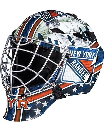 a4a79d38e9d Franklin Sports GFM 1500 NHL Team Goalie Face Mask — Street Hockey Mask  Modeled After U.S.