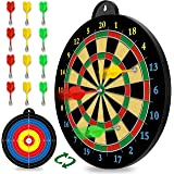 Magnetic Dart Board - 12pcs Magnetic Darts (Red Green Yellow) - Excellent Indoor Game and Party Games - Magnetic Dart Board T