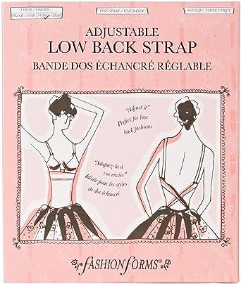 f4505d1637 Fashion Forms Women s Adjustable Low Back Strap Bra