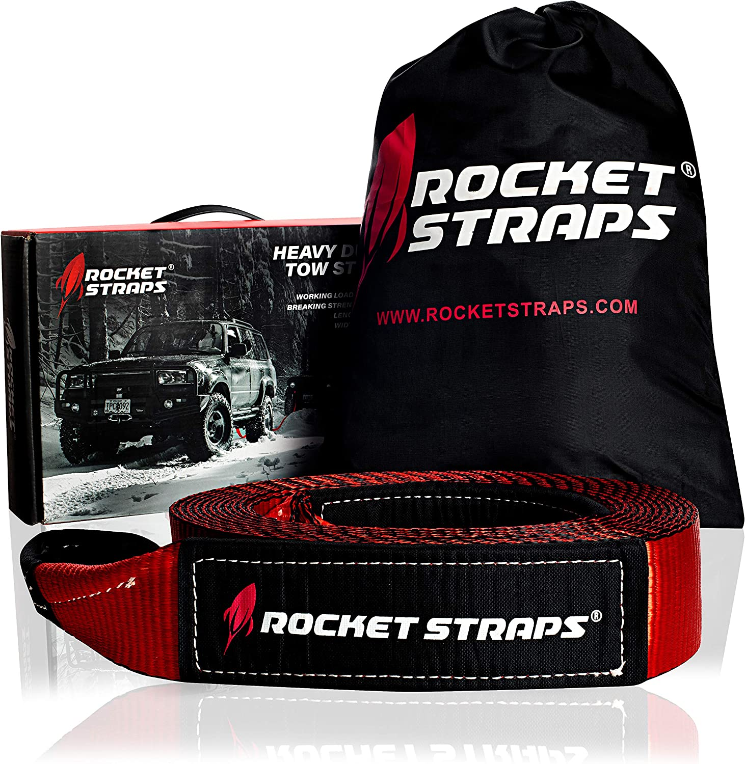 """Rocket Straps - 3"""" x 30' Heavy Duty Tow Strap 