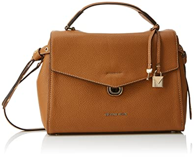 e91446abc16fcb Michael Kors Womens Lenox Satchel Brown (Acorn): Handbags: Amazon.com