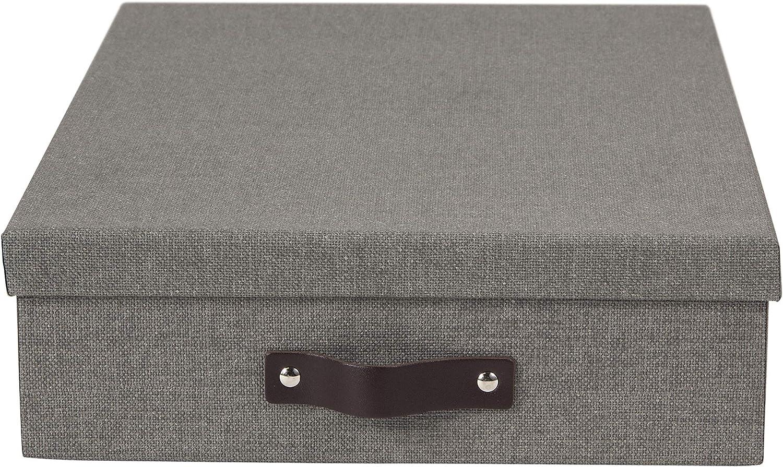 Bigso Oskar Canvas Letter Storage Box Blue
