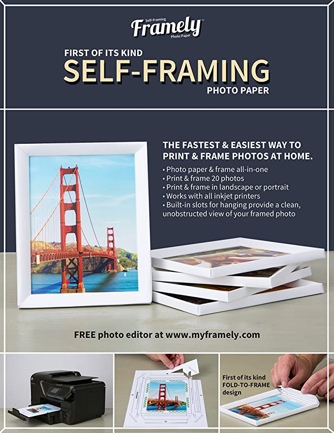 Framely - SELF-FRAMING Photo Paper.: Amazon.ca: Office Products