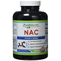 Pure Naturals NAC Capsules, 600 Mg, 250 Count
