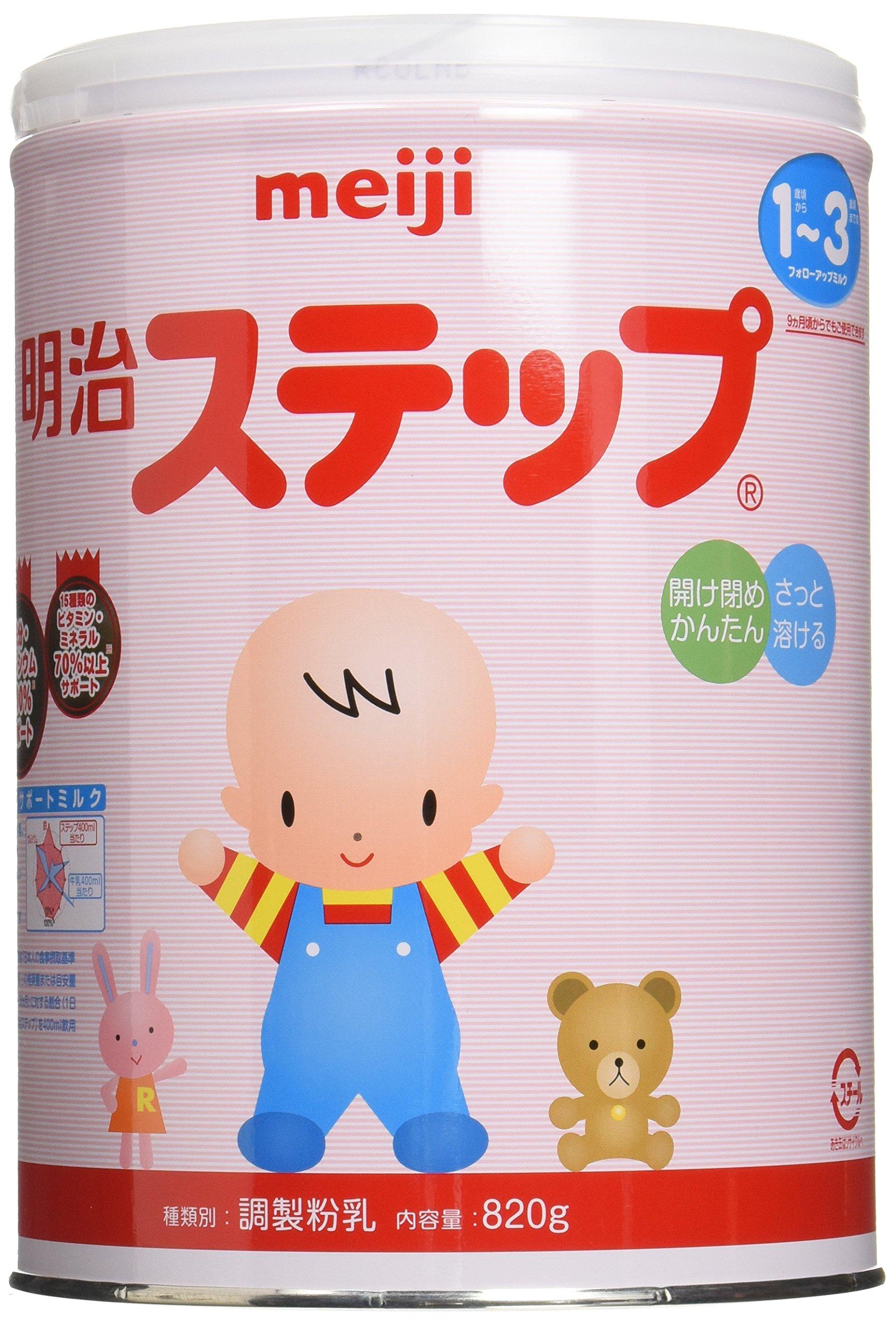 Meiji step milk powder 820g x 6 box