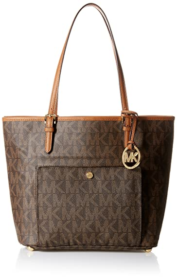 0e95d23c0175d0 Michael Kors N/S Jet Set Tote Women's Shoulder Bag Purse Brown: Handbags:  Amazon.com