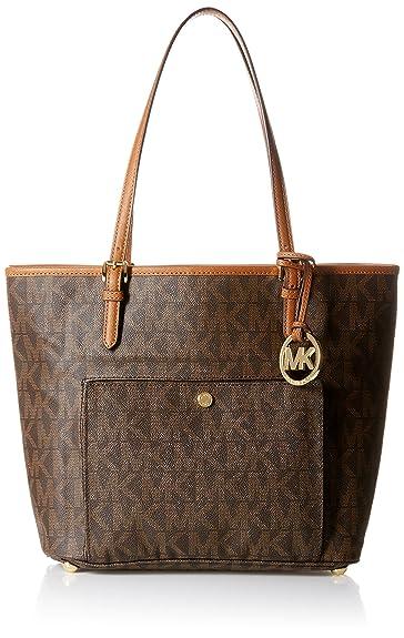 0091ebde60a6 Michael Kors N/S Jet Set Tote Women's Shoulder Bag Purse Brown: Handbags:  Amazon.com