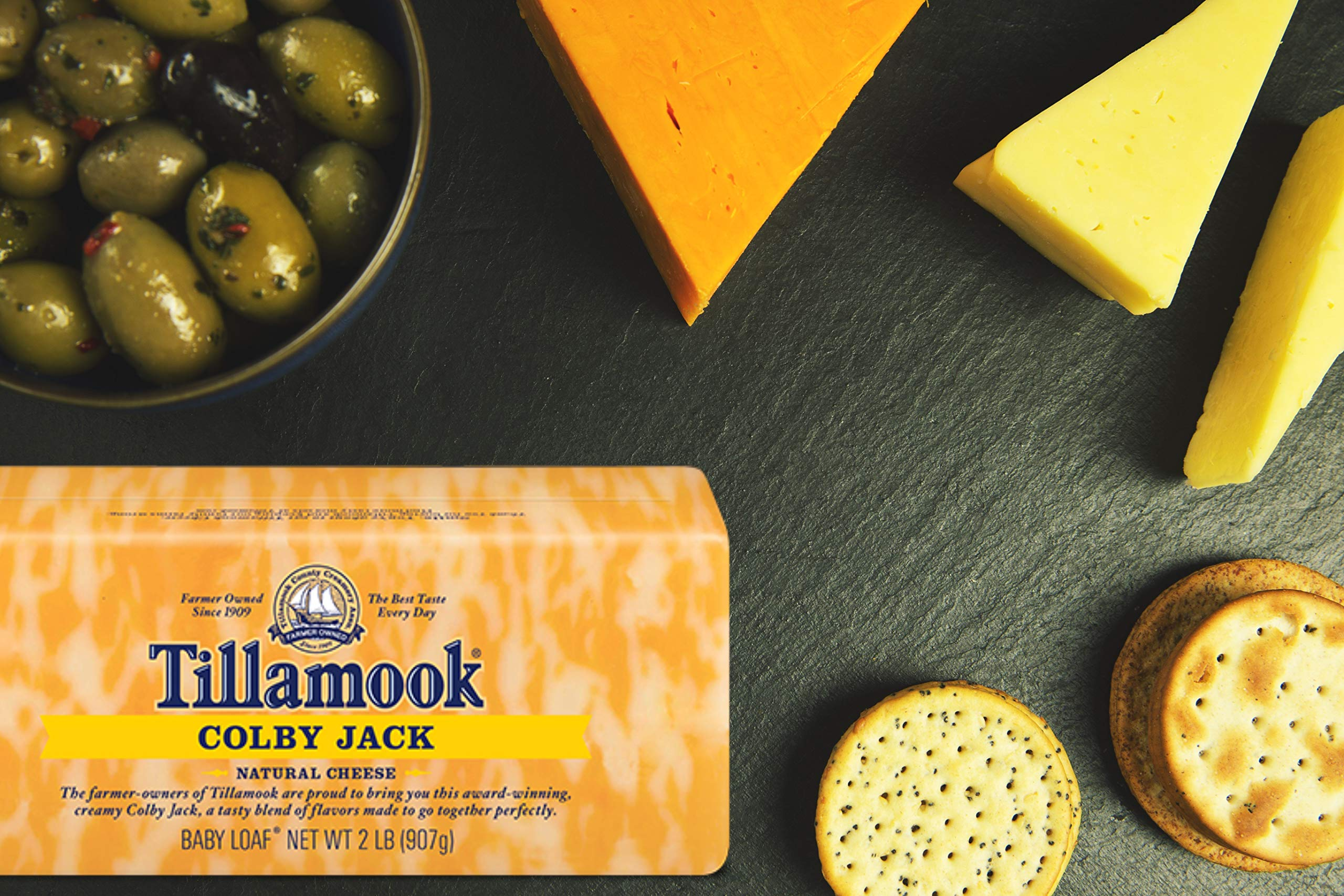 Pack of 2 Tillamook Colby Jack Cheese 2 lb Loaves