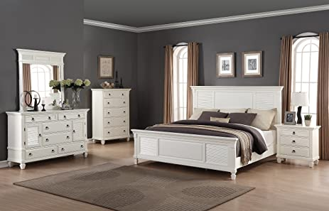 Marvelous Roundhill Furniture Regitina 016 Bedroom Furniture Set, Queen Bed, Dresser,  Mirror, Nightstand