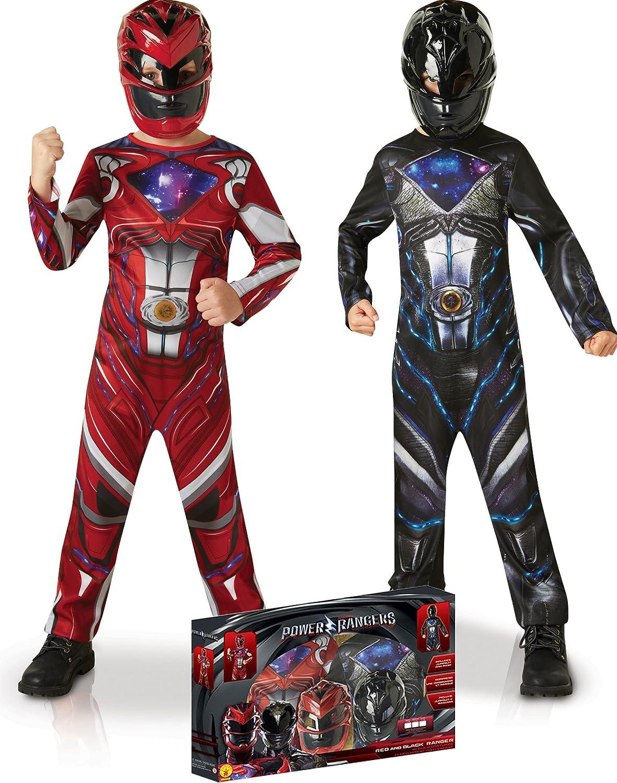 Generique - Pack Disfraz Power Rangers Rojo y Negro para niño ...