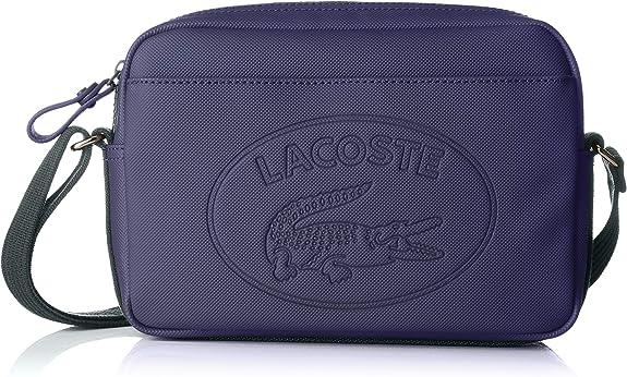 Lacoste - Nf2628wm, Bolsos bandolera Mujer, Azul (Peacoat Greener), 5x16x24 cm (W x H L): Amazon.es: Zapatos y complementos