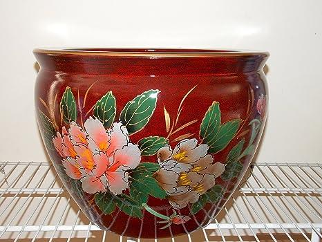 """Nuevo 14 """"oriental rojo peonía flores de Asia pecera Jardiniere maceta"""