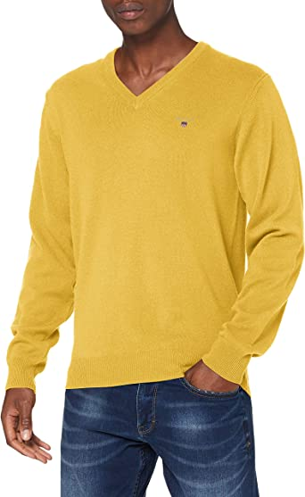TALLA S. GANT Superfine Lambswool V-Neck Suéter para Hombre