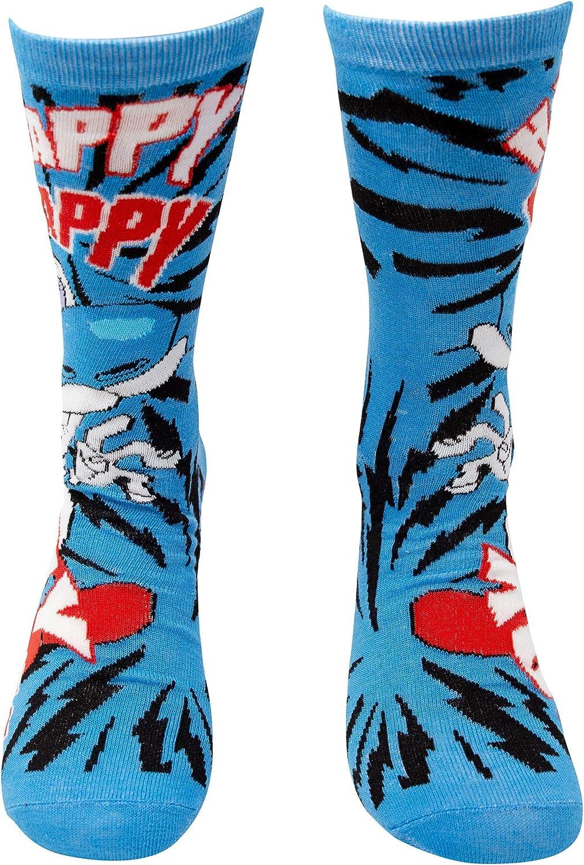 2 Pack Shoe Size 6-12 Ren /& Stimpy Mens Crew Sock