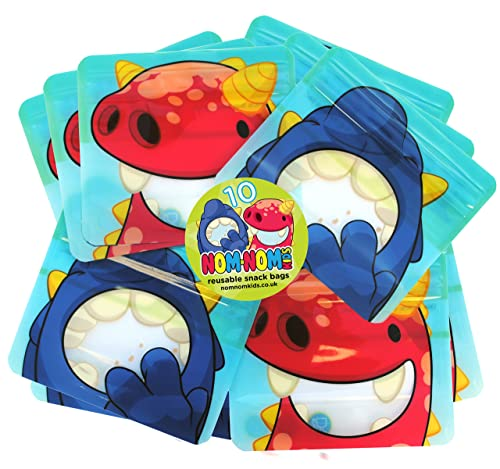 Reusable snack bags for Baby Led Weaning, toddlers & school snacks PACK of 10