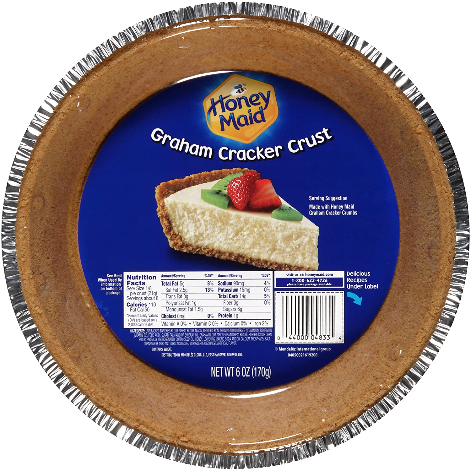 Amazon.com : Honey Maid Graham Cracker Pie Crust (6-Ounce) : Grocery & Gourmet Food