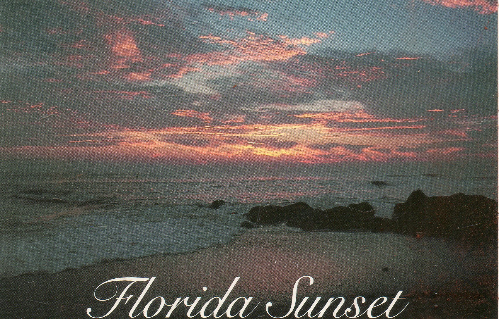 Post Card Florida Sunset Hsc 513 Greetings From Colorful Florida