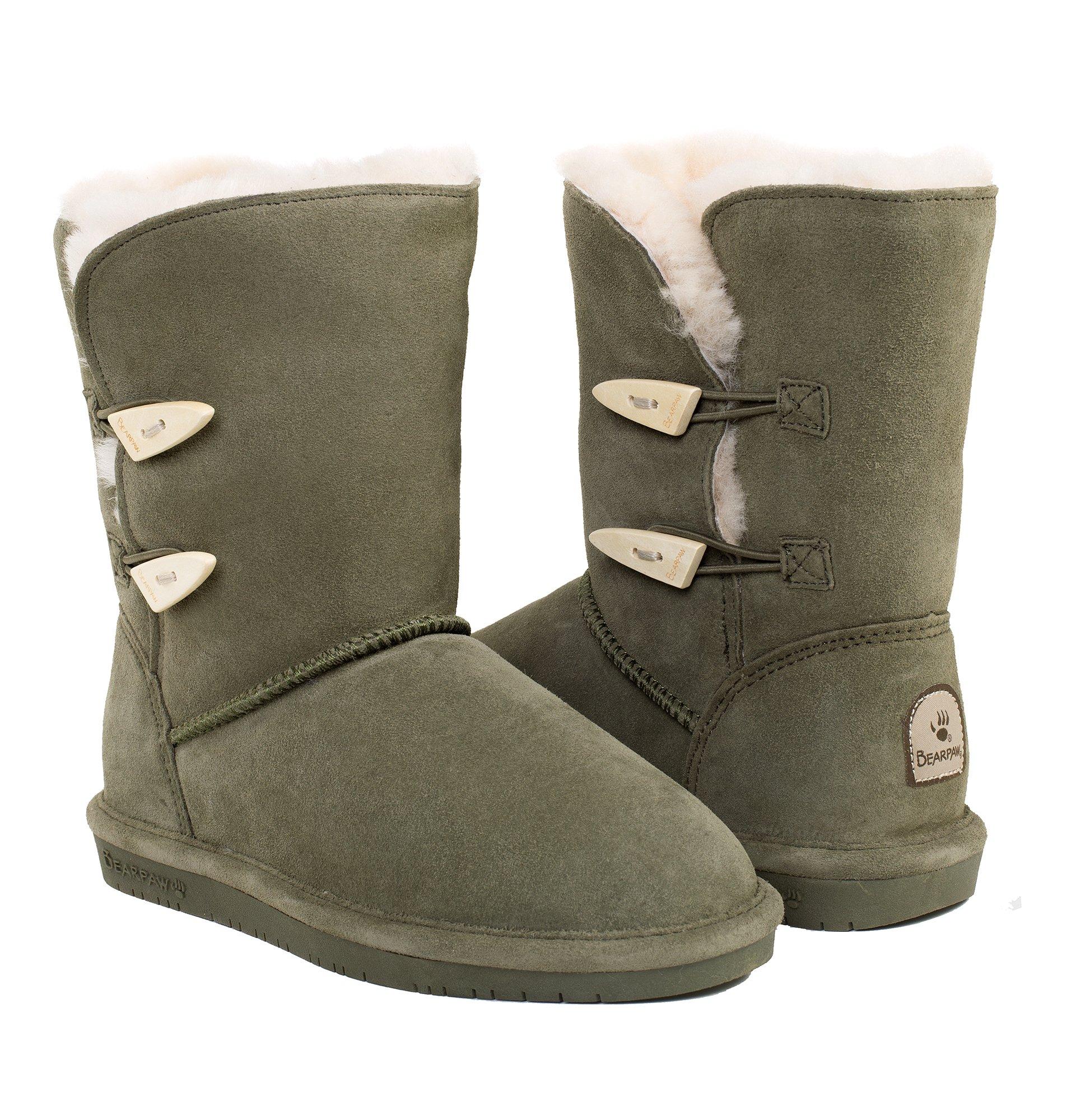 Bearpaw Women's Abigail Boot (9 B(M) US, Olive)