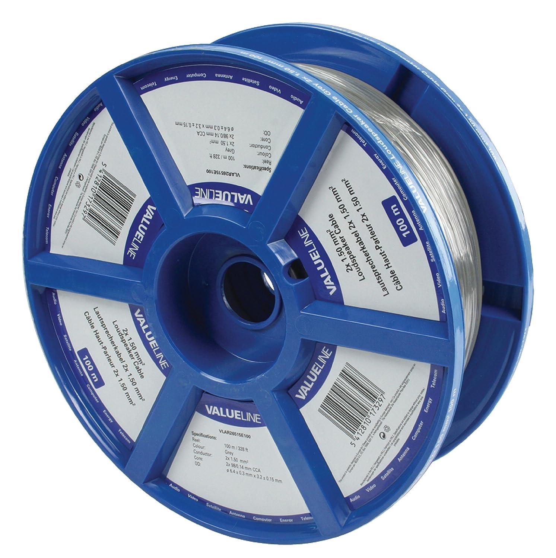 Valueline VLAR26515E100 C/âble Haut-parleur 2 x 1,5 mm 100 m Gris
