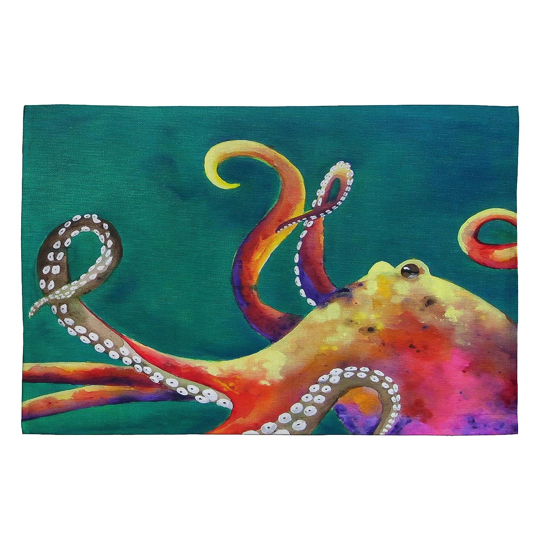 4 by 6-Feet 12740-wrug46 Deny Designs Clara Nilles Mardi Gras Octopus Woven Rug