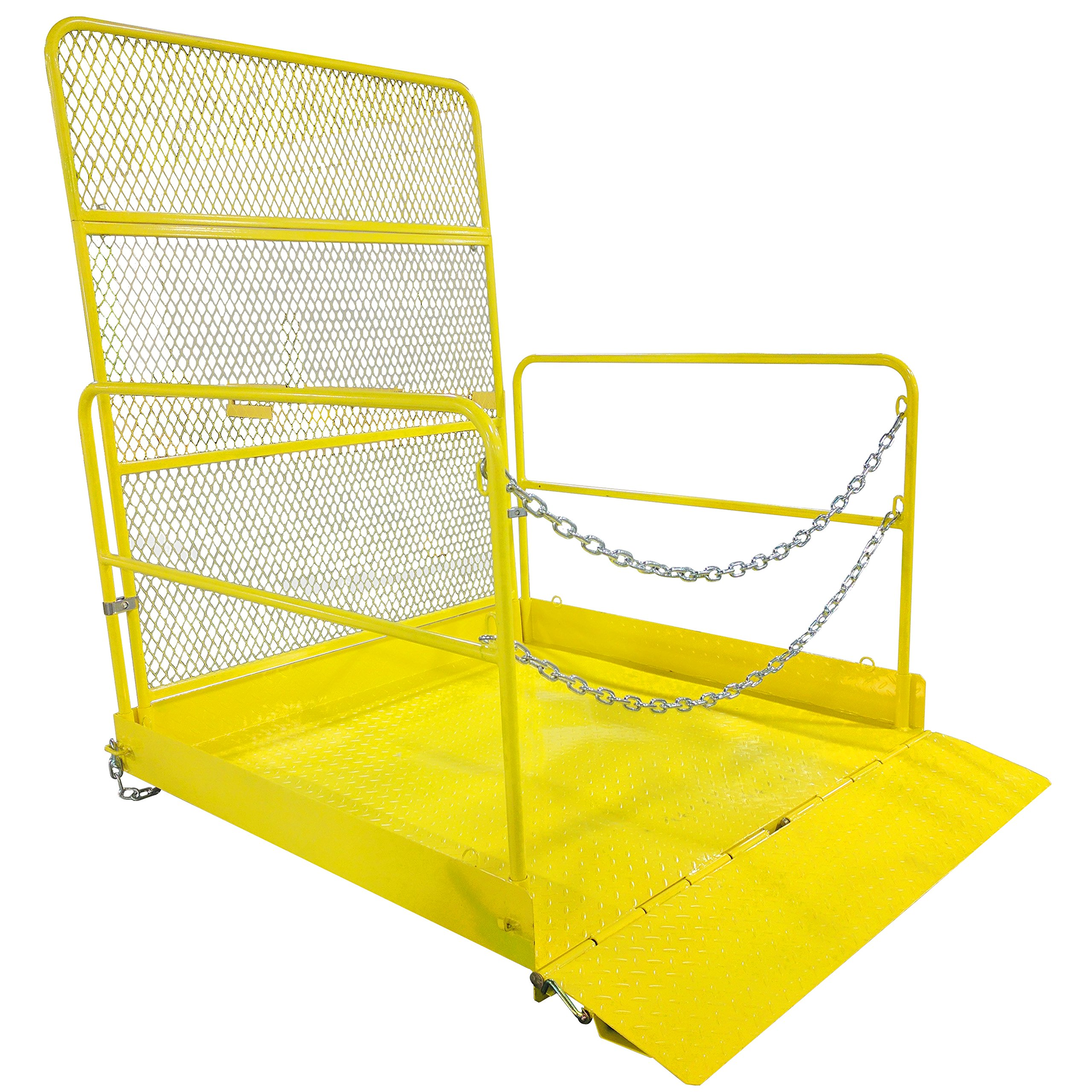54'' x 54'' Loading Work Platform w/ Handrails - 2,000 LB Capacity by Titan Attachments (Image #1)