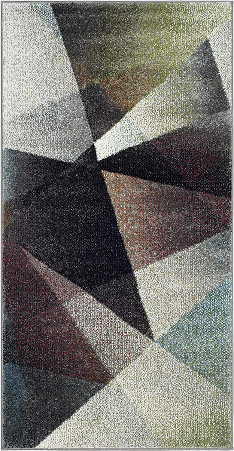 Amazon Com Safavieh Porcello Collection Prl6939b Modern Abstract Non Shedding Stain Resistant Living Room Bedroom Area Rug 2 7 X 5 Grey Multi Furniture Decor