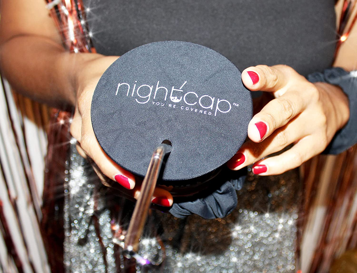 NightCap Drink Cover Scrunchie- The Drink Spiking Prevention Scrunchie As Seen on Shark Tank at  Women's Clothing store