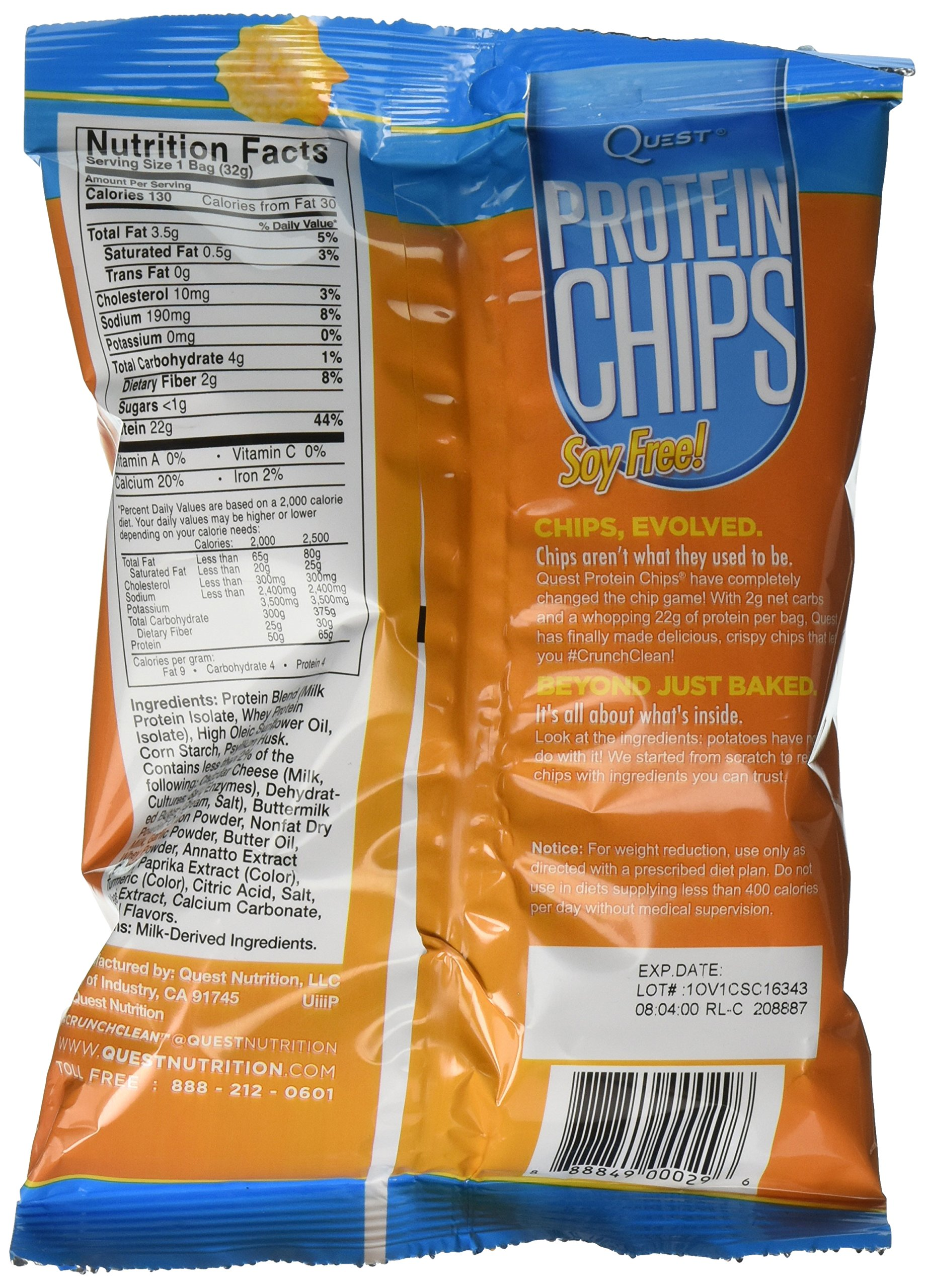 Quest Nutrition Protein Chips, Cheddar and Sour Cream, 16 Count by Quest Nutrition (Image #5)