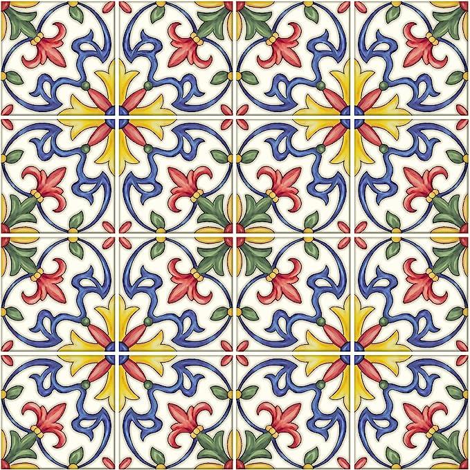 In Home Nh2365 Tuscan Peel Stick Backsplash Tiles Multi Color 4 Piece Amazon Com