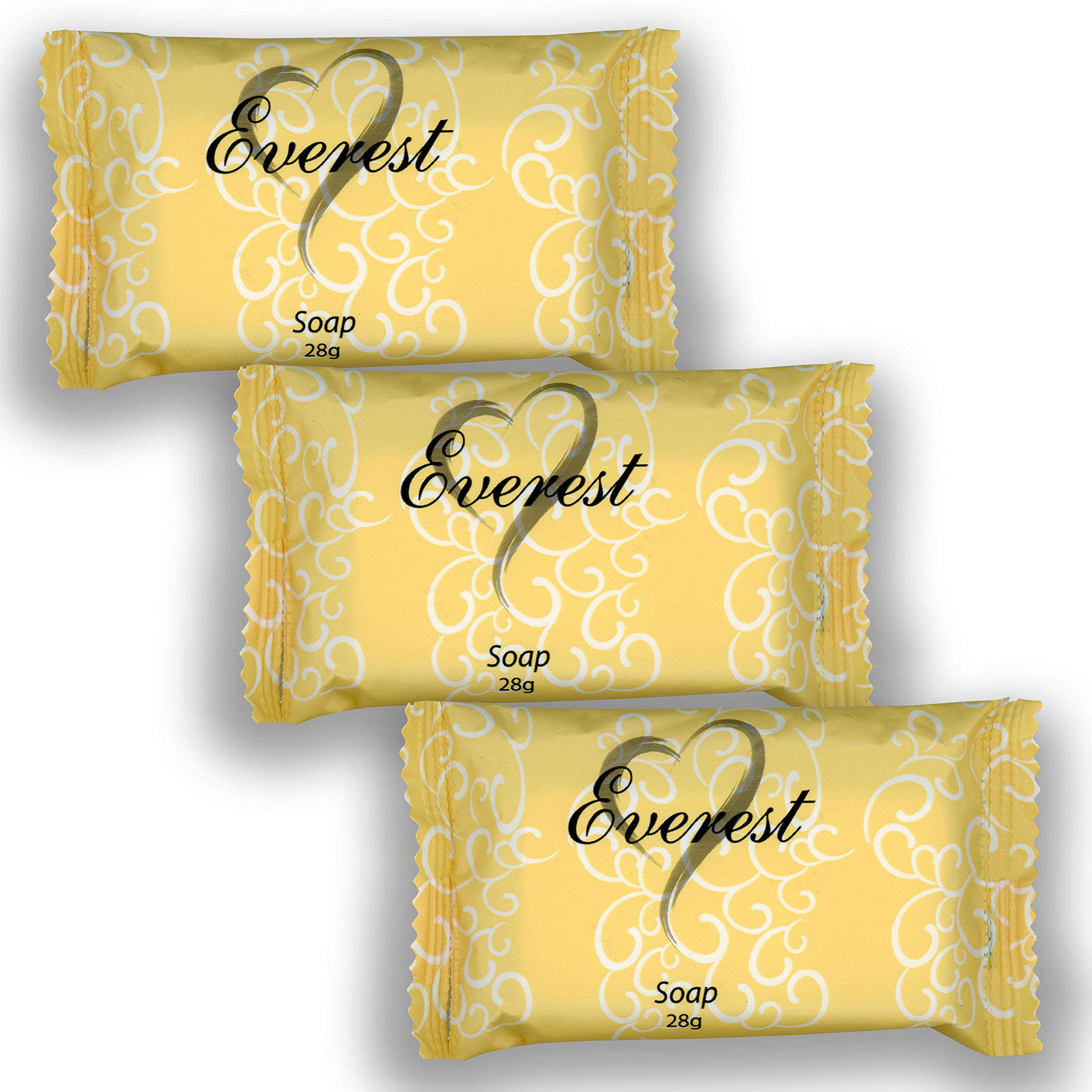 Everest Soap 500 pack, 28 grams(1oz) Individually Wrapped Travel Soap Bar Amenities for Hotels & Motels, Resorts, AirBnB Guests Toiletries Bulk Discount Price Made of Coconut Oil (cocos nucifera oil)