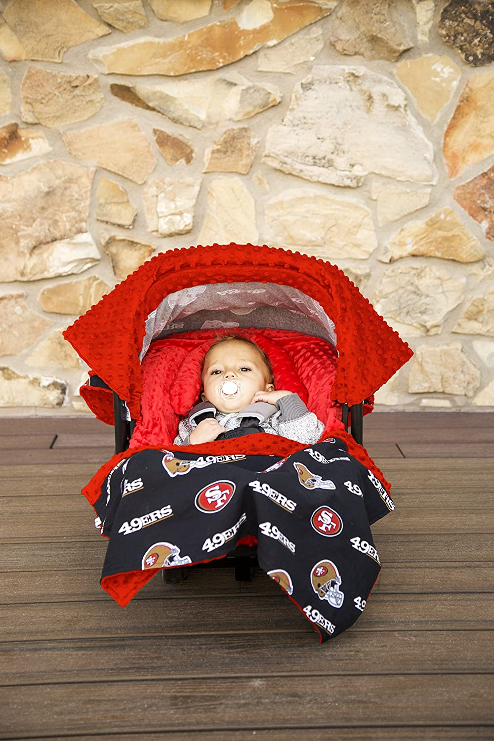 63049c11254 Amazon.com  NFL San Francisco 49ers The Whole Caboodle 5PC set - Baby Car  Seat Canopy with matching accessories  Baby