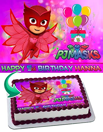 OWLETTE PJ MASKS Edible Image Cake Topper Personalized Icing Sugar Paper A4 Sheet Edible Frosting Photo