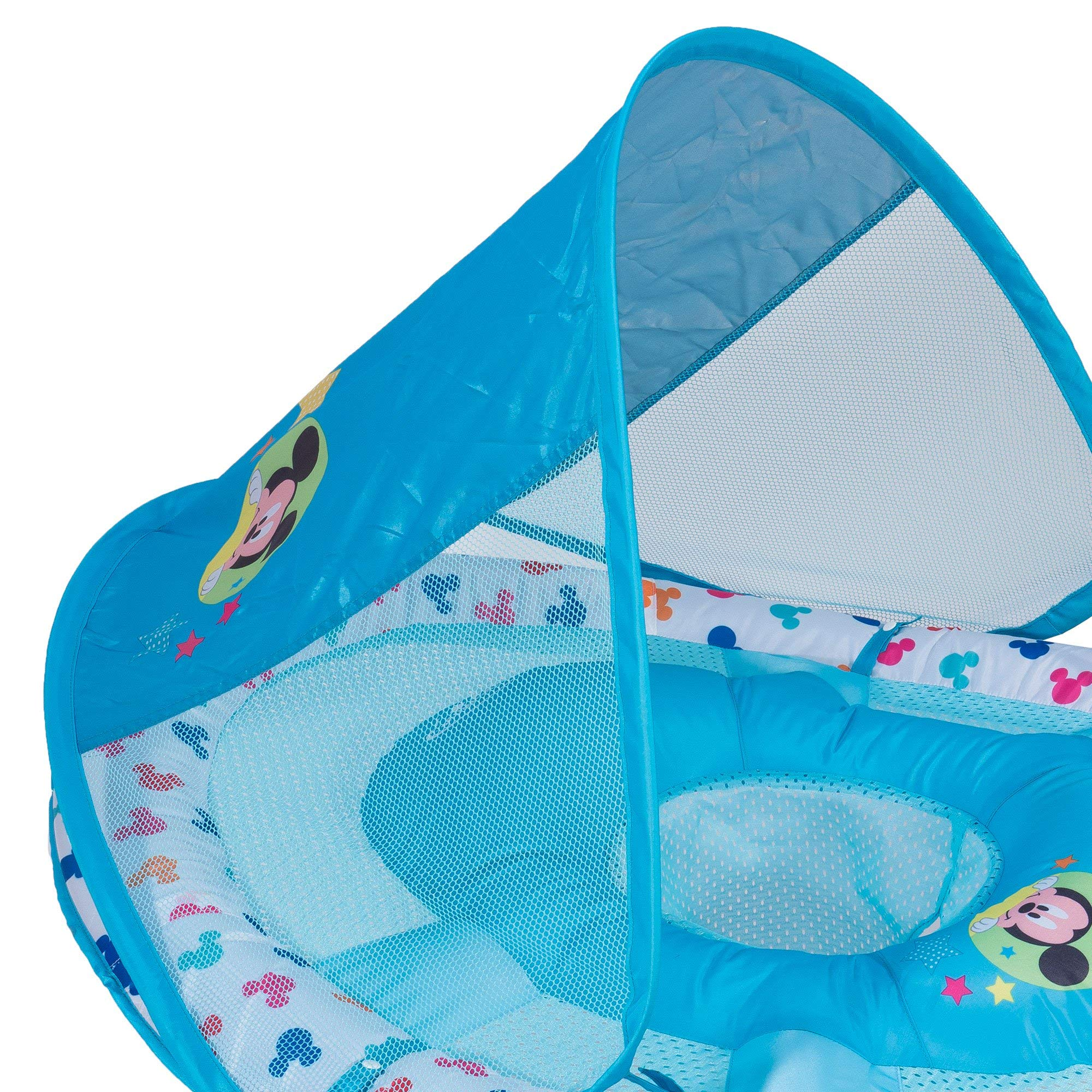 SwimWays Inflatable Infant Baby Swimming Pool Float w/Canopy, Mickey Mouse (2 Pack) by SwimWays (Image #6)