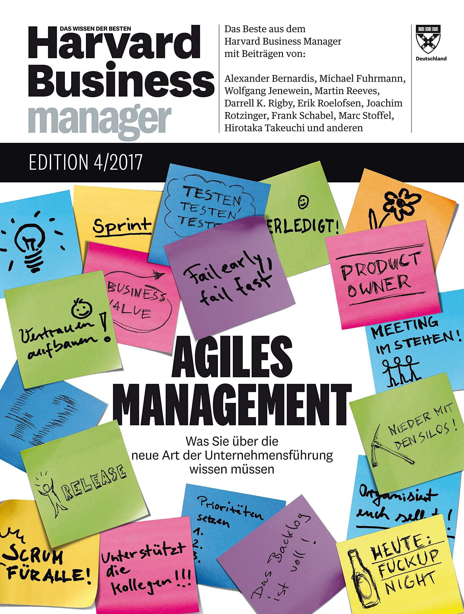 Harvard Business Manager Edition 4 2017 Agiles Management Amazon