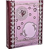 Arpan Large Tilda Style Hearts Self Adhesive 3-Ring Binder Photo Album 40 Sheets/80 Sides by ARPAN