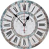 "KI Store Silent Wall Clocks Non Ticking Large Round Decorative Clock (12"", Blue)"