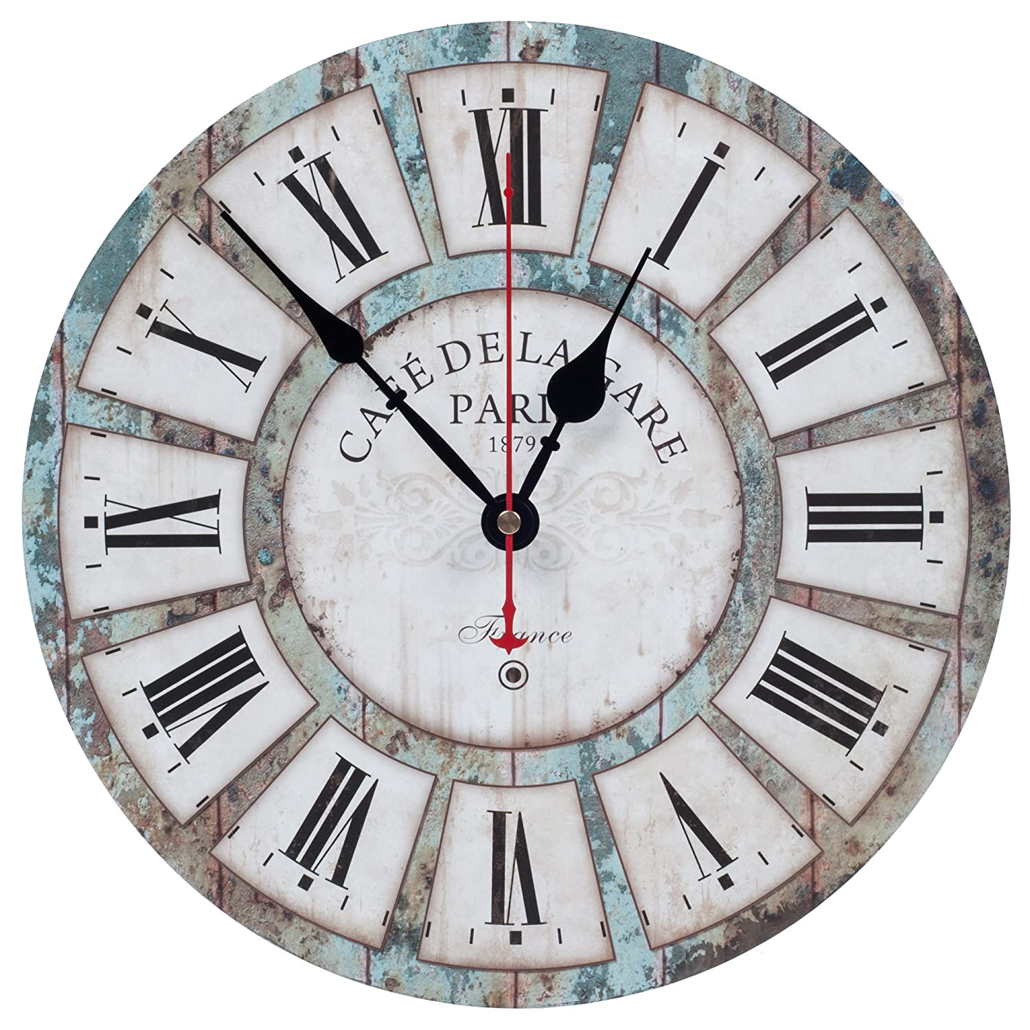 Decorative Silent Non Ticking Vintage Wall Clock