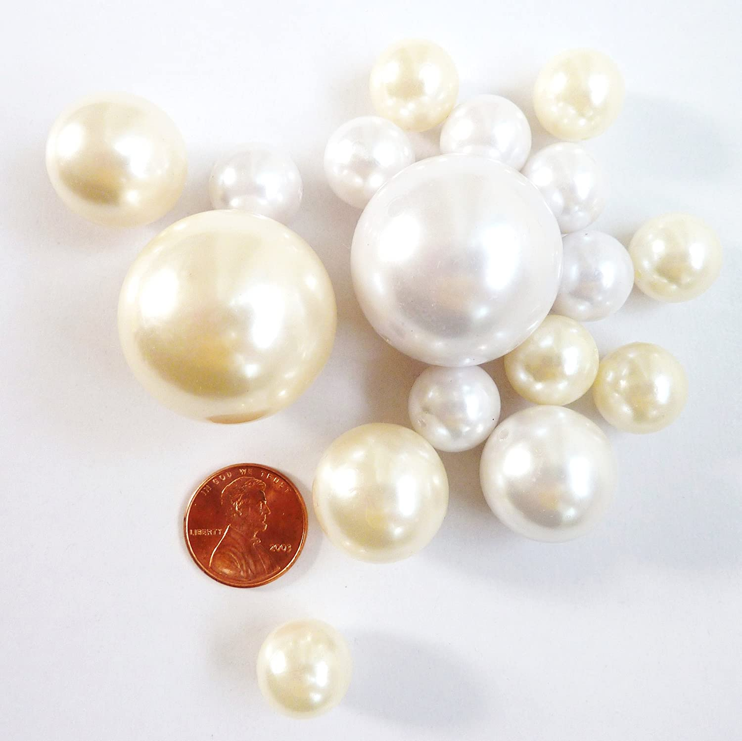 Amazon 40 jumbo assorted sizes ivory pearls and white amazon 40 jumbo assorted sizes ivory pearls and white pearls vase fillers not including the transparent water gels for floating the pearls sold reviewsmspy