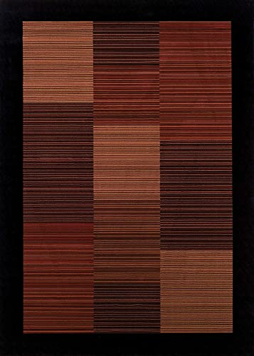 Couristan 0766 4998 EVEREST Hamptons 110-Inch by 149-Inch Polypropylene Area Rug, Multi Stripe
